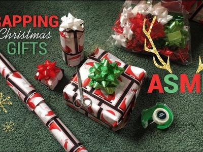 ASMR WRAPPING CHRISTMAS GIFTS