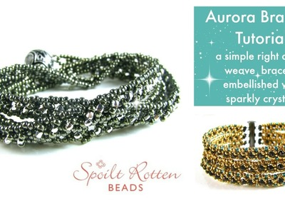 Aurora Right Angle Weave Bracelet Tutorial