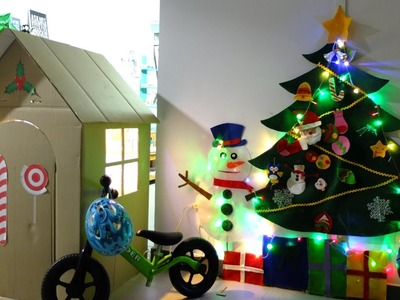 Cardboard Playhouse  for Kids   Uni's House   DIY Playhouse