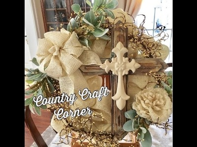 Cream on Cream Burlap Wreath Tutorial: Stacey's Christmas Present (Craft Bow Tutorial Included)