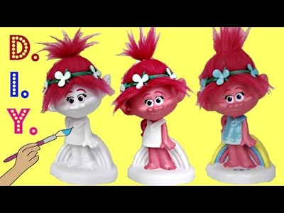 D.I.Y. POPPY Paint Your Own Bank Dreamwork's Trolls Movie, Color Easy Kid Craft Fun Activity. TUYC
