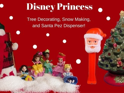 Disney Princess Christmas Tree Decorating