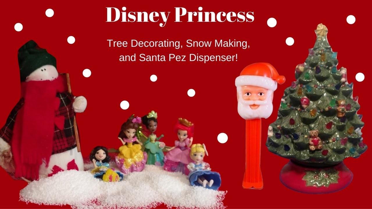 Disney Princess Christmas Tree Decorating