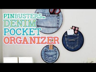 DIY Denim Pocket Organizer. IS MAKING THIS THAT EASY?
