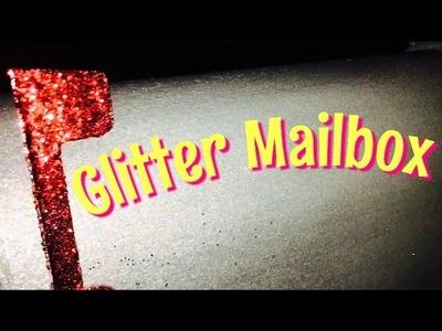 DIY GLITTER MAILBOX with Mod Podge Extreme Glitter
