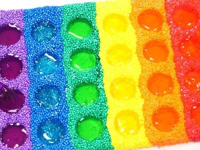 DIY How To Make Colors Mini Dot Foam Clay Slime