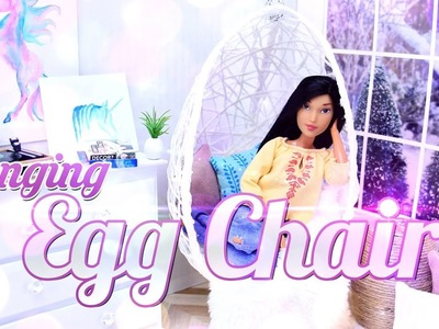 DIY -  How to Make: Hanging Egg Chair - Dollhouse Decor - Doll Crafts - 4K