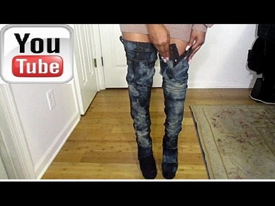 DIY|Kim K inspired jeans boots