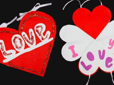 DIY Love Heart Greeting Card.How to make Valentine's Day Greeting Card. DIY paper craft.Julia DIY