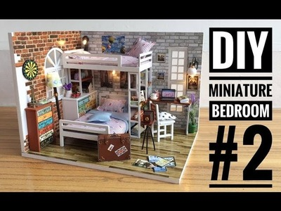 DIY Miniature Bedroom #2 'Small Partners' with Antique Camera ('小伙伴' DIY 小房)
