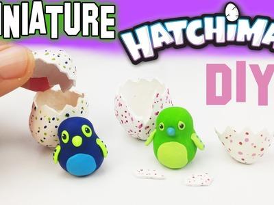 DIY MINIATURE HATCHIMALS Polymer Clay Tutorial | How to make dollhouse diy craft