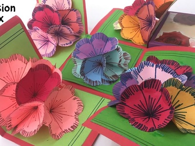 """EXPLOSION 3D Flower Popup Card Box"" - Tutorial by Paper folds"