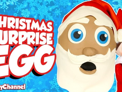 GIANT SANTA CLAUS Surprise Egg & Elf on the Shelf Christmas Surprise Egg, Surprise Car & ToysReview