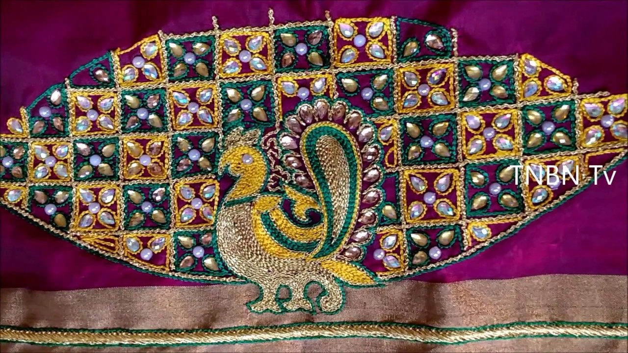 Hand embroidery tutorial for beginners, hand embroidery peacock designs,embroidery stitches tutorial
