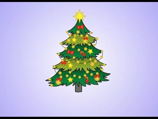 How to Draw Christmas Trees