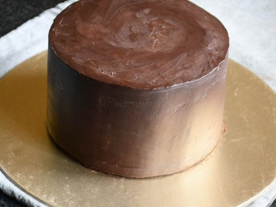 How To Frost A Cake With Ganache - Upside Down Method