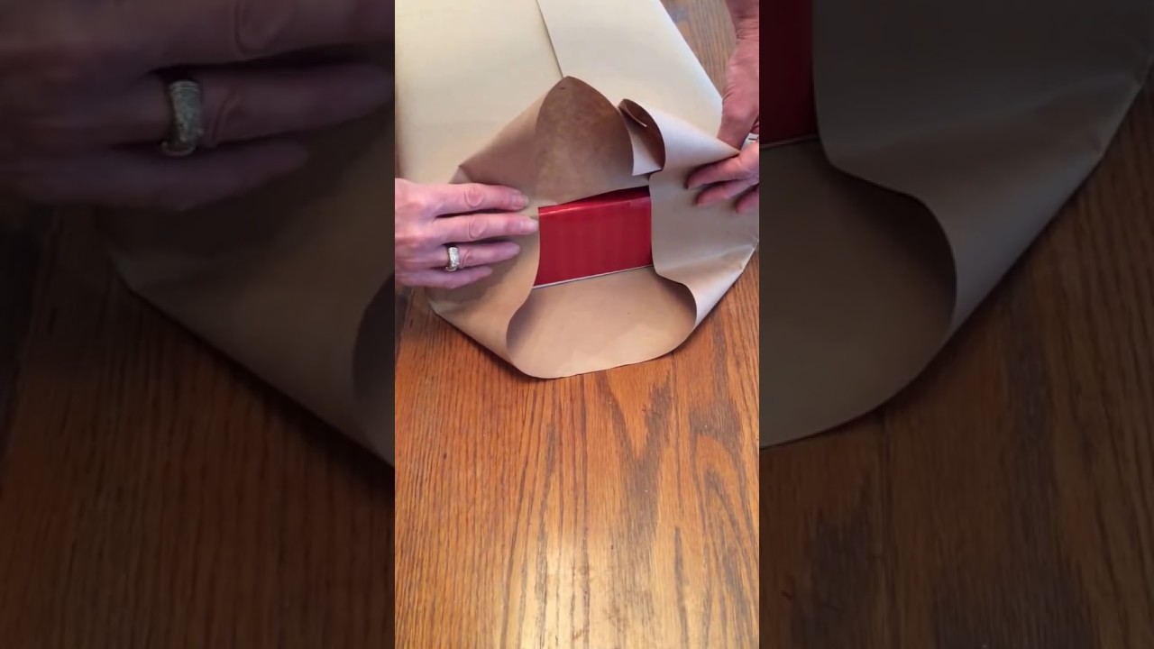 How to gift wrap a box using double sided tape