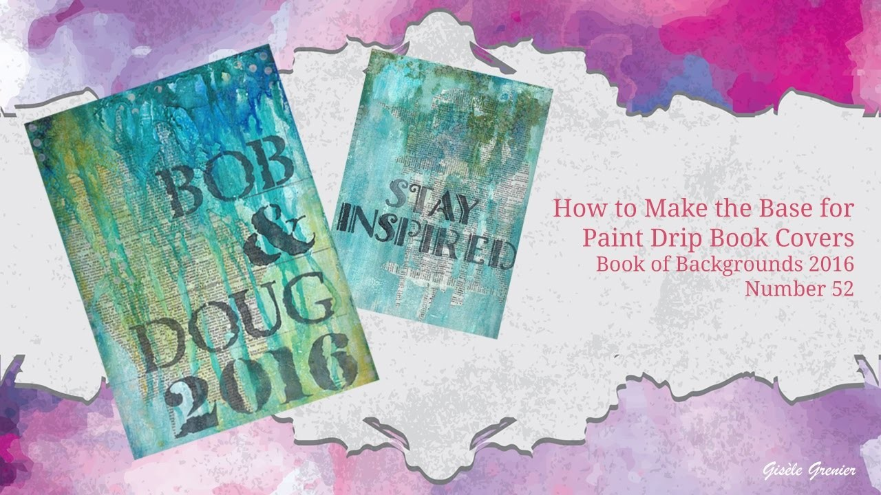 how to make paint drip cake