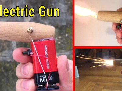 How to Make a Powerful Electric Gun || Electrical Engineering Projects