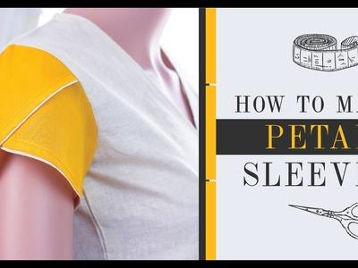 How to make Cap sleeves & Petal.Tulip  Sleeves - Final Part 4