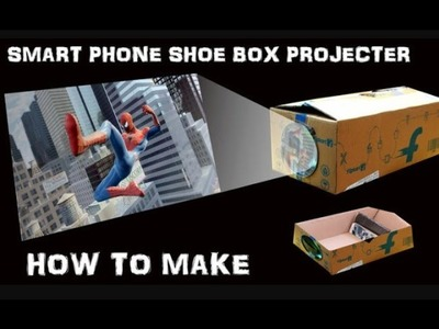 How To Make Light Bulb Smart Phone Projector  Easy DIY Light Bulb  Shoe Box Projector-- Tamil user