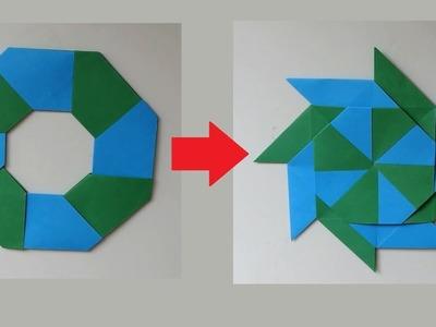How to Make Paper Transforming Ninja Star Origami
