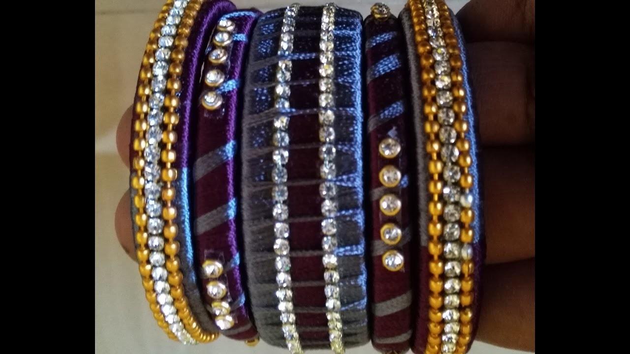How to make silk thread bangle set