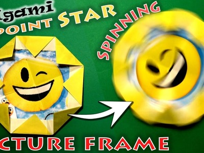 Origami Spinning 8-Point Star Picture Frame (no music)