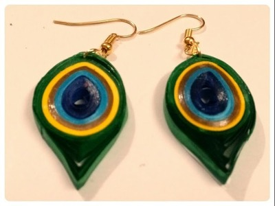 Quilling Peacock Earrings Tutorial New Design