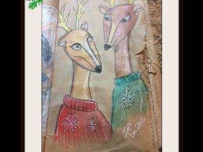 """Sketch """"Christmas Sweater Deer"""""""