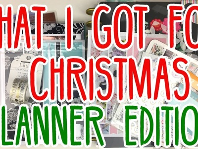 What I Got For Christmas | Planner Edition