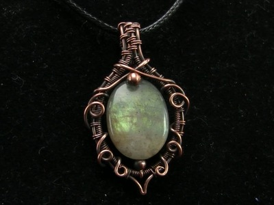 Wire Wrapped Elven Gemstone Bead Pendant Tutorial