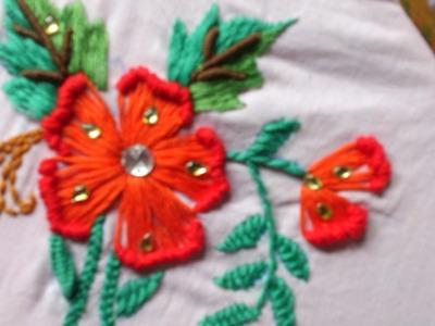 Button hole stitch-ruffle button hole stitch.
