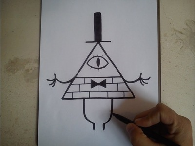 COMO DIBUJAR A BILL  CIPHER - GRAVITY FALLS. how to draw bill cipher. gravity falls