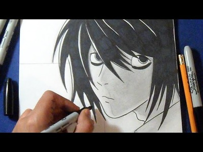 "Cómo dibujar a ""L"" Lawliet de ""Death Note´s"" 