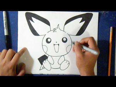 Cómo dibujar a Pichu - Pokémon | How to draw pichu