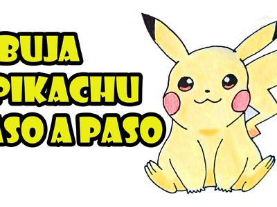 Como dibujar a Pikachu facil paso a paso - How to draw Pikachu easy step by step