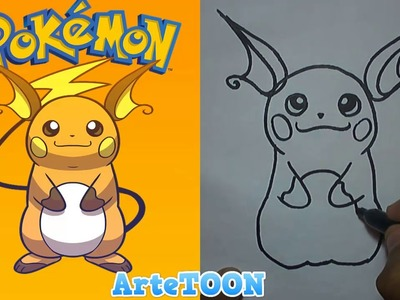 Como dibujar a raichu paso a paso |  How to draw raichu | Pokemon