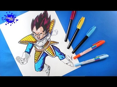 Como dibujar a vegeta l  how to draw vegeta  l Dragon ball z
