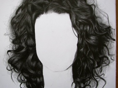 Cómo dibujar cabello chino.quebrado - How to draw curly hair