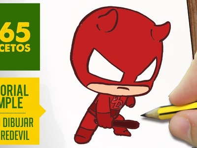 COMO DIBUJAR DAREDEVIL KAWAII PASO A PASO - Kawaii facil - How to draw Daredevil