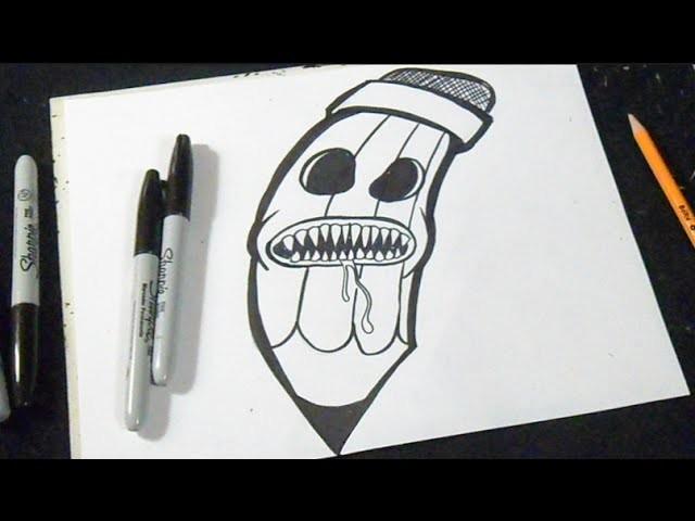 cómo dibujar un lápiz graffiti