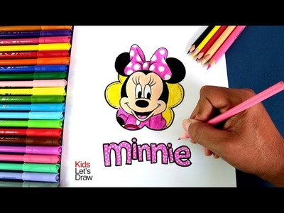 Cómo dibujar y colorear a MINNIE MOUSE | How to draw Minnie Mouse (Disney) - 2