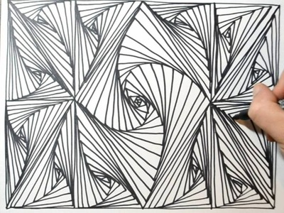 Cool Sketch Doodle Technique - Drawing a Random Pattern