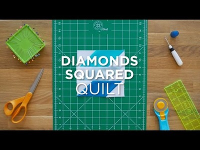 Diamonds Squared Quilt Block - Quilt Snips Mini Tutorial