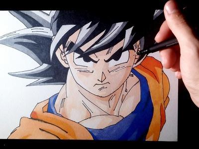 Dibujando a Goku Fase Normal   Dragon ball Z   Drawing Goku Normal mode