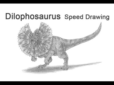 Dilophosaurus from Jurassic Park Time-lapse (Speed) Drawing