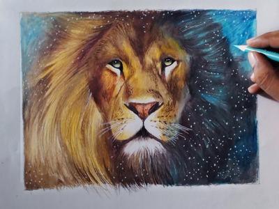 Drawing A Lion (Aslan) - Animal series 3 - Prismacolor pencils