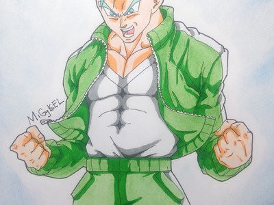 Drawing GOHAN Ssj God Ssj blue Hair. Dibujando a Gohan Ssj god Ssj fukkatsu no F