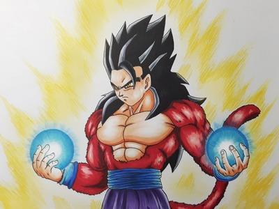 Drawing Gohan Super Saiyan 4 | SSJ4